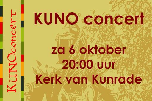 KUNO concert op zaterdag 6 oktober
